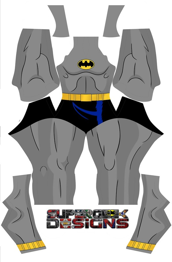 BATMAN the animated TV show (no belt, no pants) pattern file