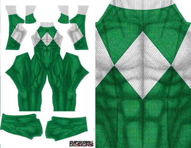 GREEN POWER RANGER (DOJ inspired design with no gold trim) pattern file