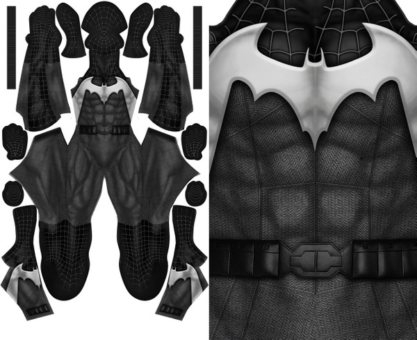 SYMBIOTE BATMAN (WITH BELT) pattern file