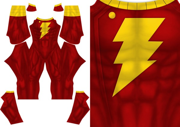 SHAZAAM YOUNG JUSTICE STYLE pattern file