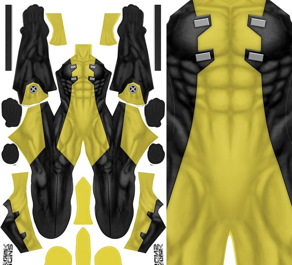 YELLOW DEADPOOL (detached mask) pattern file