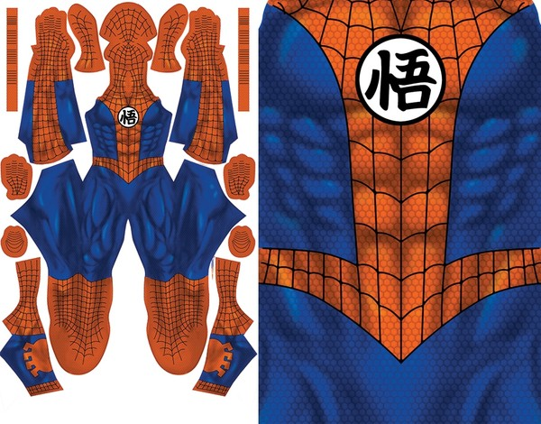SPIDER-MAN GOKU MASH-UP pattern file