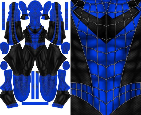 SPIDER-MAN NIGHTWING mashup pattern file