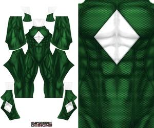 GREEN POWER RANGER concept design pattern file