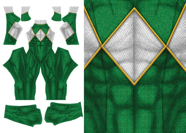 GREEN POWER RANGER (NEW)