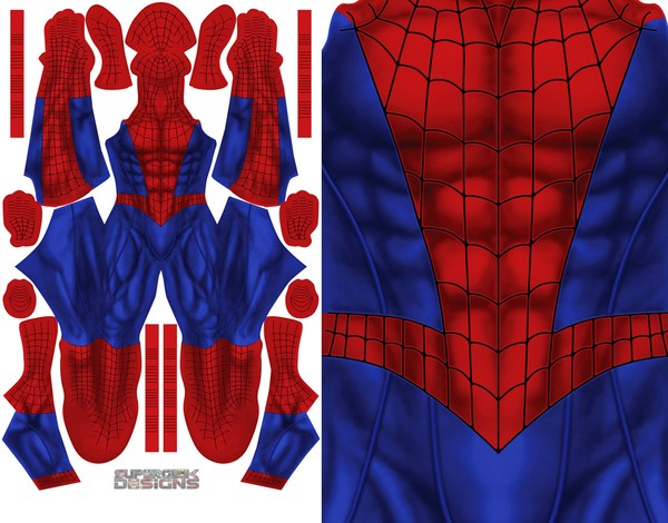 """ADD YOUR OWN LOGO"" Spider-man pattern file"