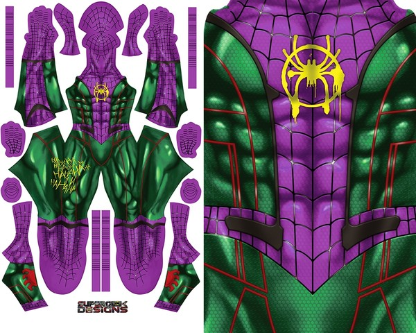 JOKER SPIDERMAN MASHUP pattern file