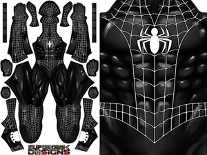 COMIC SPIDER-MAN SYMBIOTE pattern file