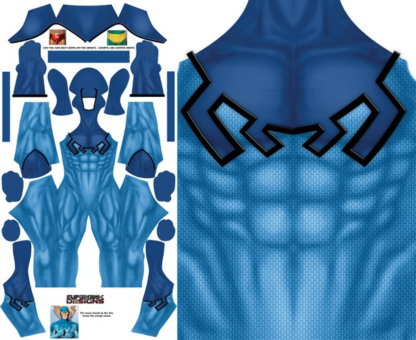 BLUE BEETLE KORD (no boots) pattern file