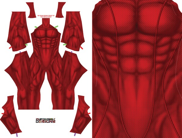 RED UNDERSUIT DESIGN pattern file