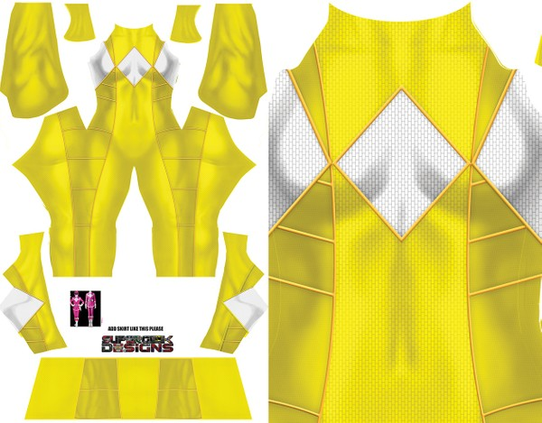 YELLOW RANGER (Bat in the sun style) pattern file **UPDATED**
