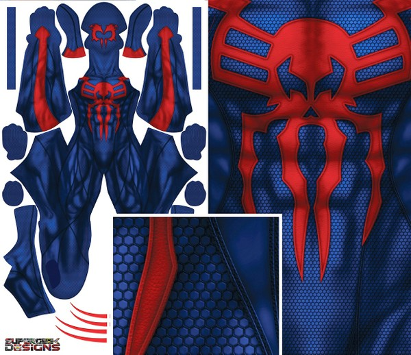 SPIDER-MAN 2099 (WITH eyes/lenses) pattern file