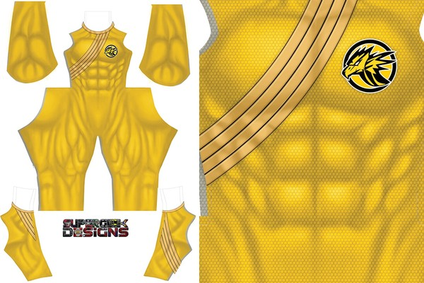 YELLOW WILDFORCE RANGER (male) pattern file