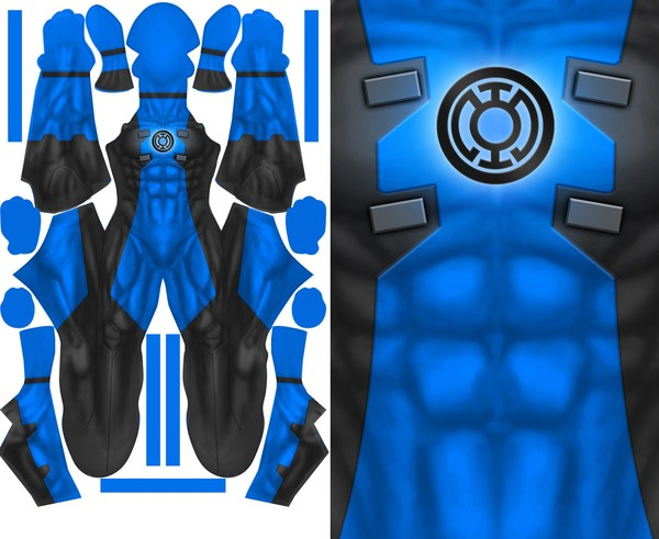 BLUE LANTERN DEADPOOL pattern file