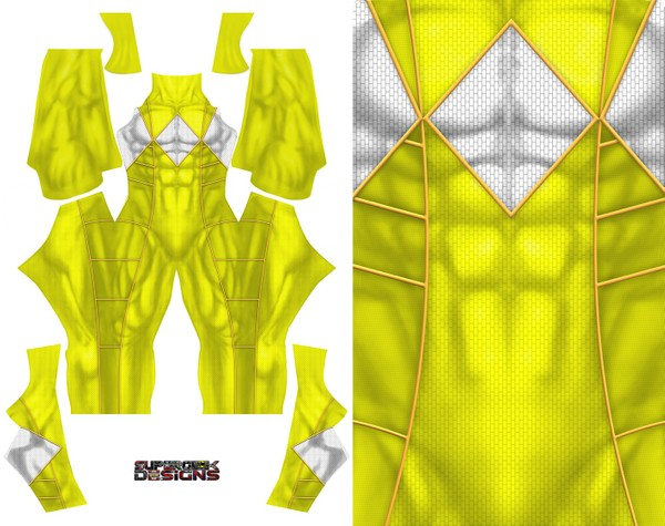 YELLOW RANGER MALE (Bat in the sun style) pattern file