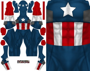 CAPTAIN AMERICA COMIC STYLE (no boots on design) pattern file