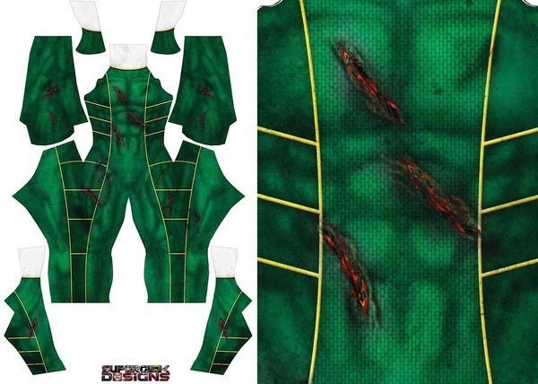 GREEN RANGER BATTLE DAMAGED pattern file