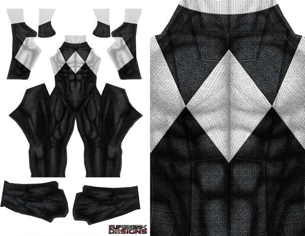 BLACK POWER RANGER (DOJ inspired design with no gold trim) pattern file