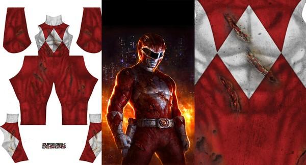 RED RANGER BATTLE DAMAGED - pattern file