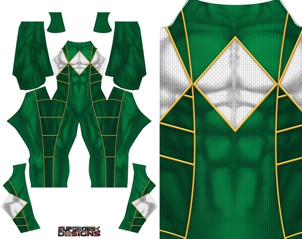 GREEN RANGER (Bat in the sun) v2 pattern file