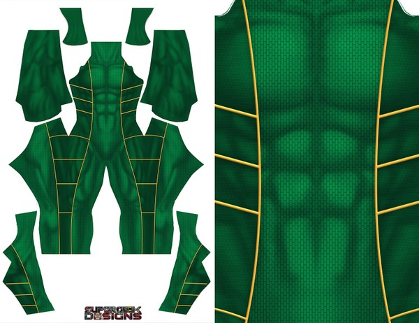 GREEN RANGER (bat in the sun) v1 pattern file