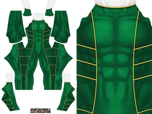 GREEN POWER RANGER (with white collar) pattern file