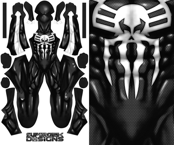 SPIDER-MAN 2099 SYMBIOTE pattern file