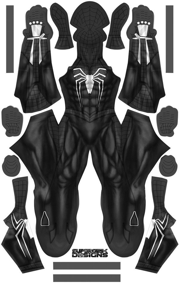 SPIDER-MAN (SYMBIOTE VERSION - black webbing) - PS4 INSOMNIA GAME