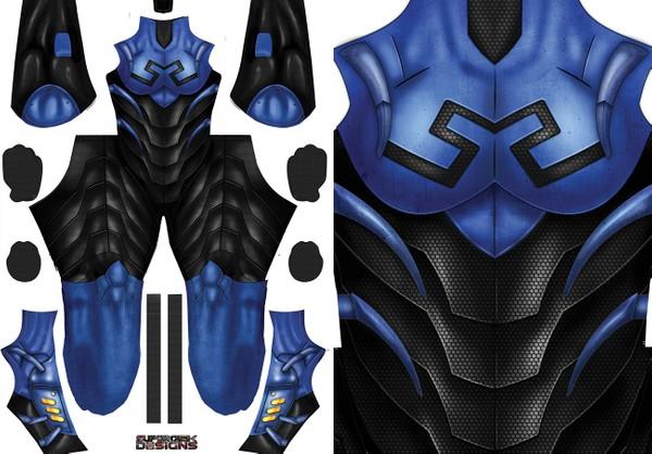 BLUE BEETLE - FEMALE - pattern design