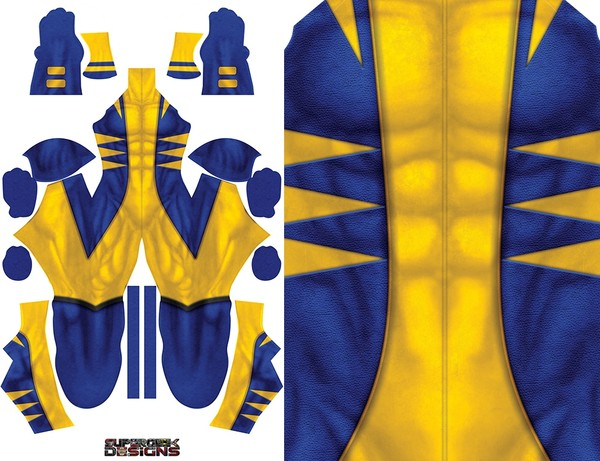 WOLVERINE (gloves and shoulders/not full arms) pattern file