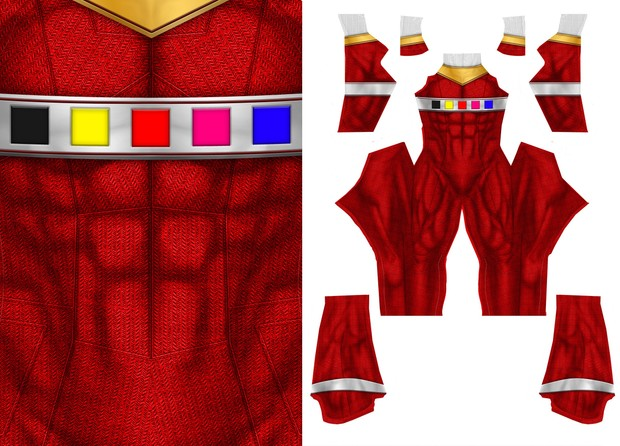 RED POWER RANGER IN SPACE pattern file