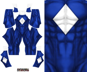 BLUE POWER RANGER concept design pattern file