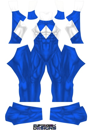 BLUE POWER RANGER (PLAIN) pattern file