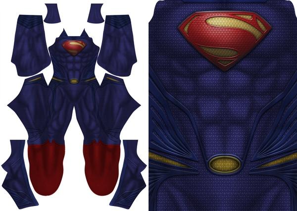 SUPERMAN - MAN OF STEEL pattern file (new muscle base)