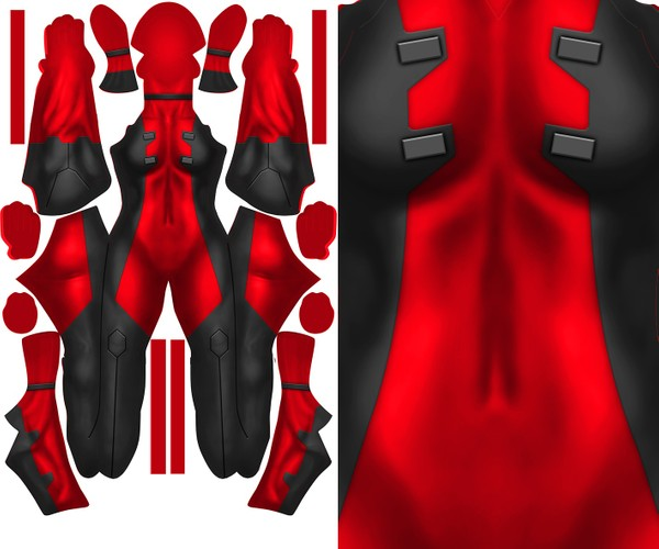 FEMALE DEADPOOL (plain) pattern file