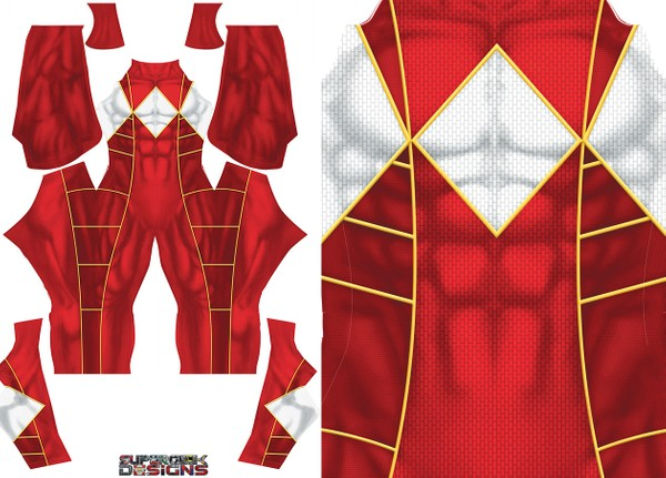 RED RANGER (Bat in the sun style) pattern file **UPDATED**