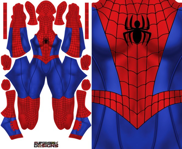 FEMALE SPIDER-MAN pattern file