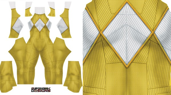 YELLOW POWER RANGER PATTERN FILE