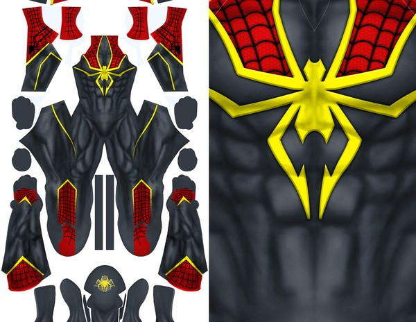 HOODED SPIDER-MAN CONCEPT pattern file