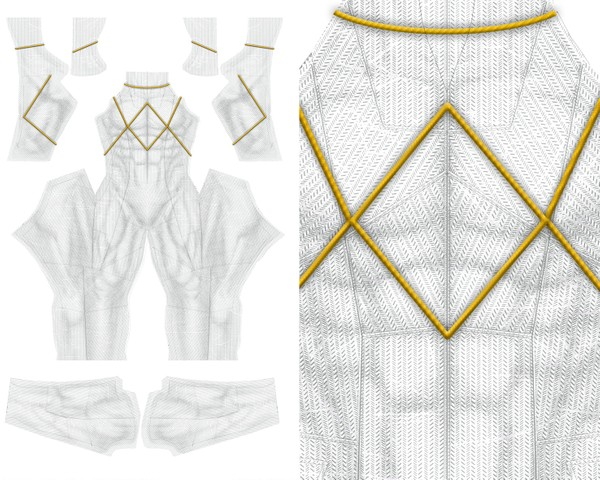 NEW  WHITE RANGER v1 pattern file