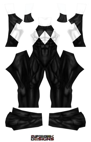 BLACK POWER RANGER (PLAIN) pattern file