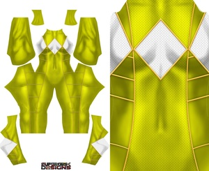 YELLOW RANGER (Bat in the sun style) pattern file