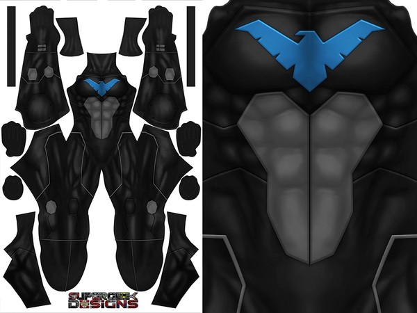 NIGHTWING (black version) pattern file