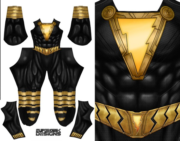 BLACK ADAM (low neckline) pattern file
