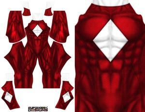 RED POWER RANGER concept design pattern file