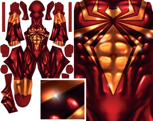IRON SPIDER (with sparkle) pattern file