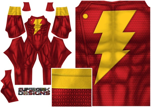 SHAZAM (Superman texture) pattern file (not boots)