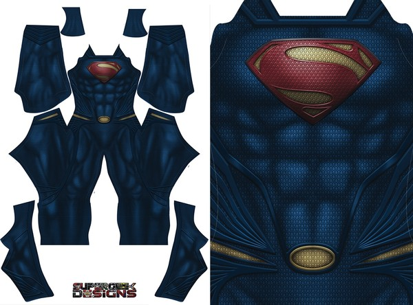 SUPERMAN Man of Steel - (updated) NO BOOTS - pattern file