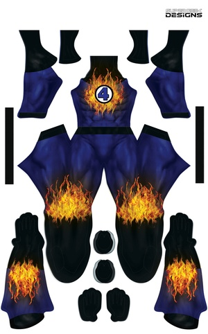 THE HUMAN TORCH pattern