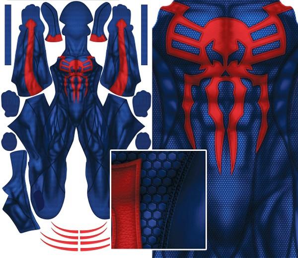 SPIDER-MAN 2099 (no eyes/lenses) pattern file